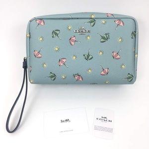 Coach Boxy Cosmetic Case Beach Umbrella Print